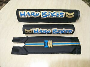 HARO Pad Set BMX freestyle for Top Tube Handlebar Neck black blue CUS-HA7