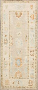 Antique Look Vegetable Dye Oushak Turkish Oriental Runner Rug Hand-Knotted 3x6