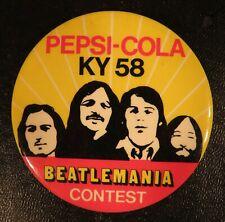 "Vintage Beatles Beatlemania Pepsi-Cola Contest 3"" Pin Back Button"