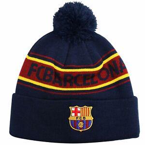 Official FC Barcelona La Liga Football Bobble Ski Hat (100% Acrylic)
