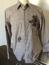 P.S. Paul Smith Mens Cotton Embroidered Floral Button Front Shirt Large