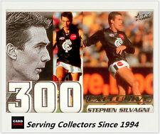 Select AFL 300 Game Case Card: 2002 Exclusive CC5 Stephen Silvagni (Carlton)