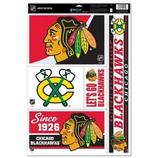 Chicago Blackhawks 11 X 17 sheet of 5 Ultra Decals / Window Clings