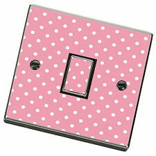 Pink Polka Dot Light Switch Cover,Skin,Sticker.Decal Any Room