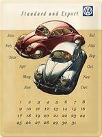 VW Beetles calendario metallico in rilievo