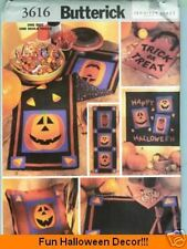 REDUCED!  Butterick 3616 HALLOWEEN Decorations Pumpkin Pattern