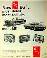1966 AMT Ford  Mustang~Corvette Sting~Ray~Model Car Kit~Toy memorabilia Promo AD