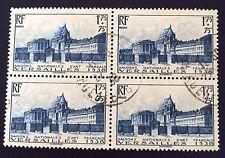 France N° 379 Château De Versailles Obli TB En Bloc De Quatre Côté 86€ +