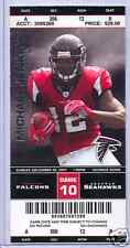 Atlanta Falcons Seattle Seahawks Full Unused Ticket 12/30/07 Michael Jenkins