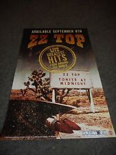 "ZZ TOP - LIVE: GREATEST HITS - ORIGINAL ROLLED PROMO POSTER - 11"" X 17"""