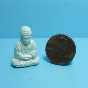 Dollhouse Miniature White Sitting Buddha Statue MUL5218B