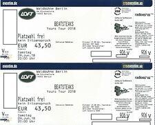 2 Tickets Karten BEATSTEAKS Berlin Samstag 09.06.2018 Waldbühne