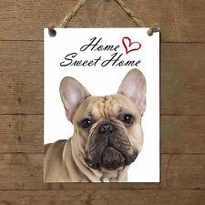 BULLDOG FRANCESE Home Sweet home mod4 Targa CANE piastrella ceramic tile dog