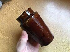 Attractive Victorian Brown Glazed Stone Cream Pot c1900
