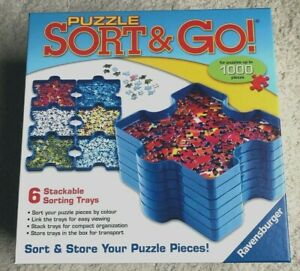 Sort & Go Jigsaw Puzzle Shaped 6 Stackable Plastic Sorting Trays Ravensburger
