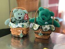 St Patrick's Day Longaberger Basket Set Of Two Vintage 1999 And 2001