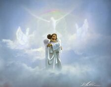 Danny Hahlbohm REUNION 8x10 print, Jesus embraces man in heaven - Welcome Home