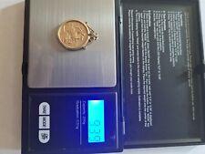 More details for 1906 gold sovereign king edward vii in 9ct pendant mount. 9 grams