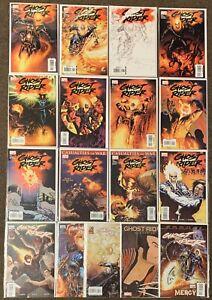 17 Ghost Rider 1 A B C Sketch 2,3,4,5,6,7,8,9,16,21,28,31,34,1 Ser 4 2006 Lot Nm