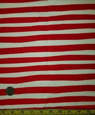 Flannel Fabric Sale-Red Wavy Striped Design (1/2 yard)