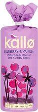 Kallo Blueberry & Vanilla Rice & Corn Cakes (4x131g)