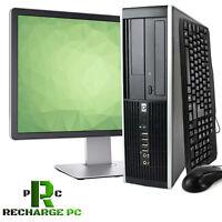 """HP Desktop Computer Intel Core i5 Win 10 PC 23"""" Display 512GB SSD 16GB RAM 2TB"""
