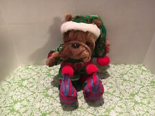 Dan Dee Christmas Bulldog Stuffed Plush