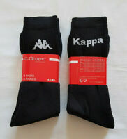6 Paar Kappa Socken schwarz 43-46 Sportsocken Arbeitssocken Tennissocken