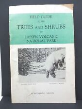 Trees Shrubs Lassen Volcanic National Park Field Guide by R Nelson 1965 Identify