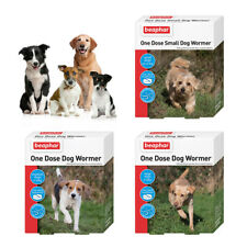 Beaphar One Dose Wormer Dog Puppy Worming Treatment Tablets Roundworm Tapeworm