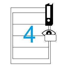 Etiketten 190x61mm 16 Stück Breite Ordnerrücken 4 Blatt A4 für Ordner von Luma