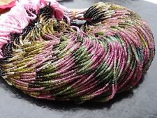 Micro Faceted Multi TOURMALINE Rondelle Gemstone Beads 6.5 Inches Single Strand