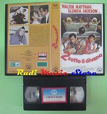 VHS film 2 SOTTO IL DIVANO Walter Matthau Glenda Jackson SKORPION (F64) no dvd