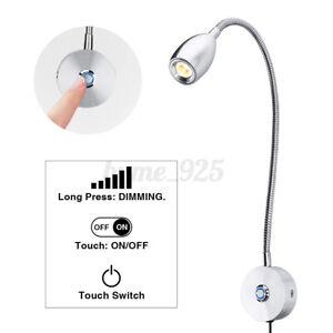 Gooseneck Arm LED Flexible Wall Light LightBeside Bed Reading Table Desk Lamp 3