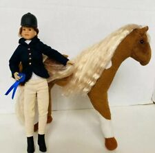 Only Hearts Club doll  horse  original pet brown white with Doll