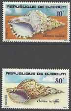 Timbres Coquillages Djibouti 486/7 ** lot 25820