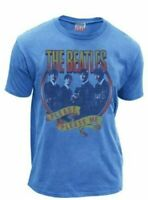 Classic Rock Music The Beatles Please Please Me Blueberry Blue Adult T-shirt Tee