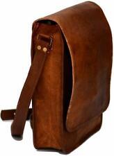 "11"" New Rich Leather Messenger Laptop Bag Computer Case Shoulder Men & Women"