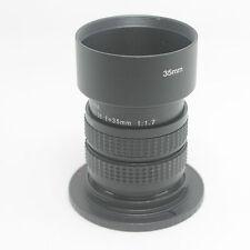 35mm f1.7 Cine Movie Lens+Adapte for Nikon 1 N1 J1 V1 Camera Adapter Ring+hood