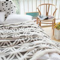 Couverture polaire Grand luxe en fausse fourrure jeter canapé-lit vison Cotton