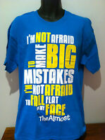THE ALMOST Big Mistakes Logo Blue T-SHIRT NEW OFFICIAL MERCHANDISE Size LARGE