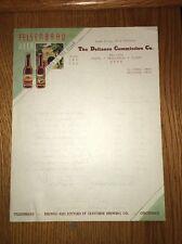 Rare Felsenbrau Beer Color Letterhead Cincinnati Ohio Defiance Commission 1930s