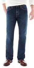 NEW ST. Johns Bay Mens Big Size 42x32 Straight Fit Five Pocket denim Jeans