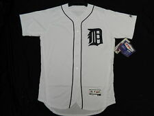 DETROIT TIGERS AUTHENTIC MLB WHITE JERSEY SIZE 60 4XL FLEX BASE MADE IN USA