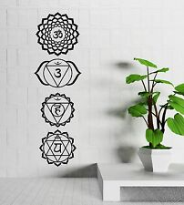 Vinyl Decal Sanskrit Character Bedroom Decor Yoga Talisman Wall Stickers (113ig)