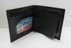 Wholesale Bulk  Lot 6 PCS Boys  Black Leather Bifold Wallets Party Favors