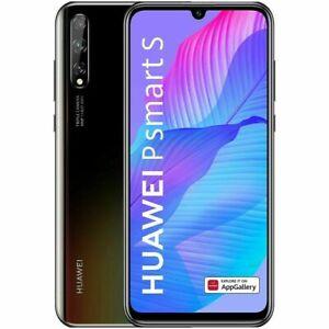 "New Huawei P Smart S Black 128GB 48MP 4GB RAM 6.3"" LCD Unlocked Smartphone UK"