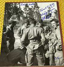 More details for ww2 easy company band of brothers 101st airborne signed - rare powers guth spina