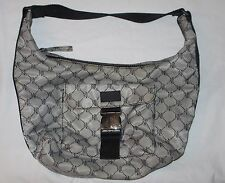 LAUREN Ralph Lauren SIGNATURE nylon logo bag gray handbag purse VGUC sporty