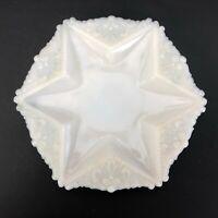 EAPG Glass DITHRIDGE Star Plate Opaline Victorian Opalescent ANTIQUE Trinket VTG